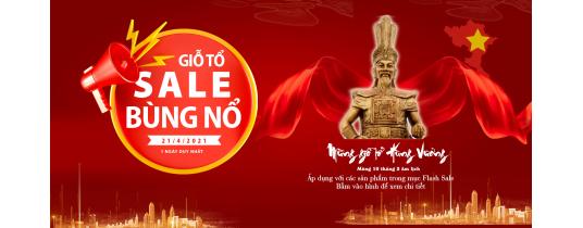 Thông báo chương trình khuyến mãi Flash sale trên website - Lễ Giỗ Tổ Hùng Vương