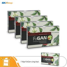 4 hộp viên uống bảo vệ gan Fogan 20 viên/hộp Fobelife - Tặng 1 hộp Fogan cùng loại