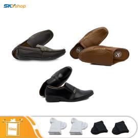 3 đôi giày da K Luxury - Tặng 4 đôi vớ cotton cao cấp