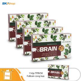 4 Hộp hoạt huyết dưỡng não FoBrain 20 viên/hộp Fobelife - Tặng 1 hộp hoạt huyết dưỡng nào FoBrain