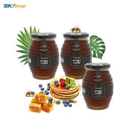 3 chai mật ong hoa rừng  Honeyland 500gr - Tặng 3 chai mật ong hoa rừng Gia Lai 470g + 1 chai Mật ong Hoa Cỏ Điện Biên 380g