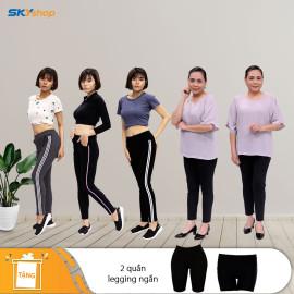 3 quần thể thao + 2 quần legging Tặng 2 quần legging ngắn - TA + 5 quần lót MUJI không viền Nhật Bản