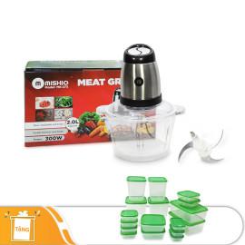 Máy xay thịt đa năng Mishio MK273 -  Tặng 17 hộp bảo vệ thực phẩm