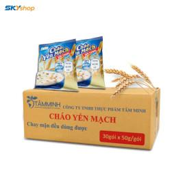 Tâm Minh - 01 thùng Cháo Yến Mạch (30 gói)  - Tặng kèm 01 gói Bột nêm Ngưu báng 200g